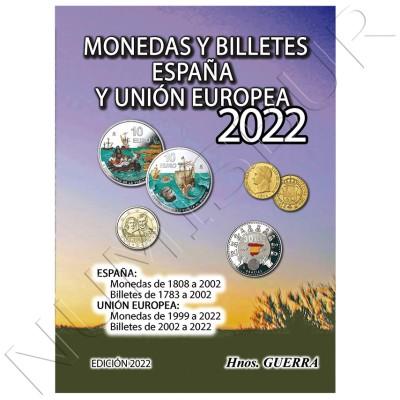 Catálogo Monedas y Billetes España y UE 2022 - Hermanos Guerra