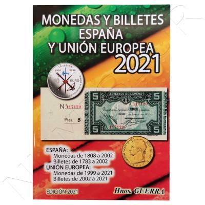 Catálogo Monedas y Billetes España y UE 2021 - Hermanos Guerra
