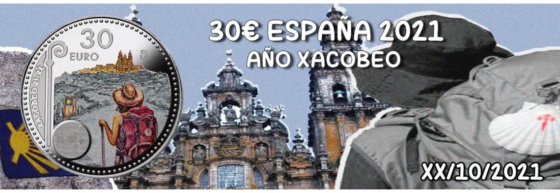 30 EUROS ESPAÑA 2021 AÑO XACOBEO