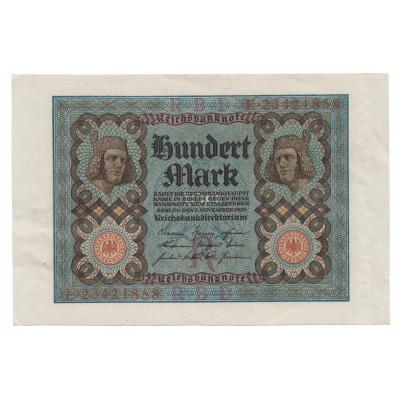 100 marcos ALEMANIA 1920 - S/C