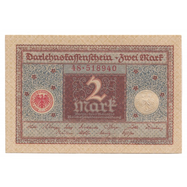 2 marcos ALEMANIA 1920 - S/C