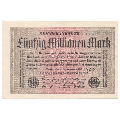 50 millones de marcos ALEMANIA 1923 - S/C