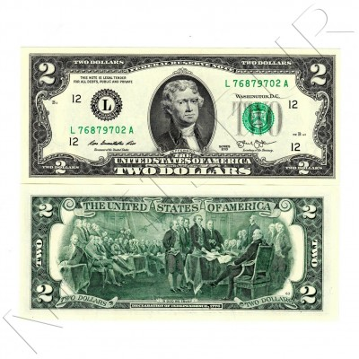 "2$ USA 2003 -  Serie L ""California"""