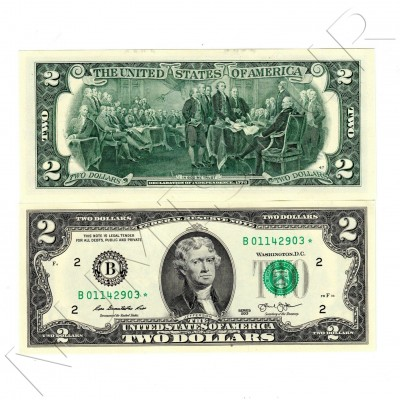 2$ USA 2003 - ★ Reposition series with star ★