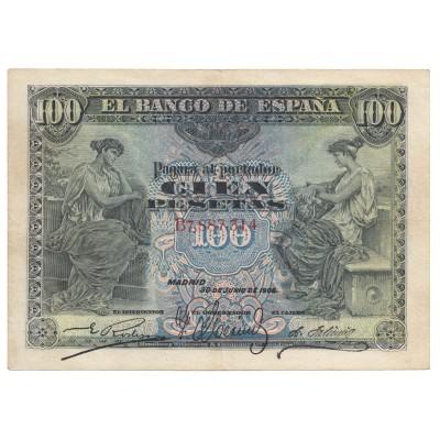 100 pesetas SPAIN 1906 #11