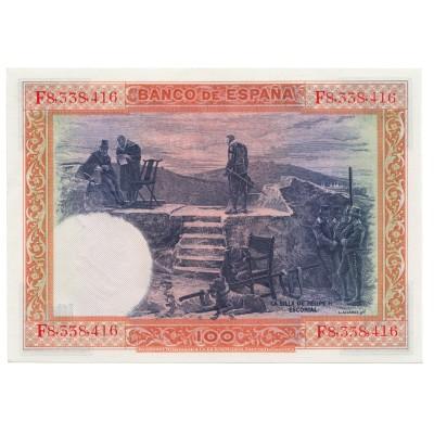 100 pesetas ESPAÑA 1925 - Serie F #22
