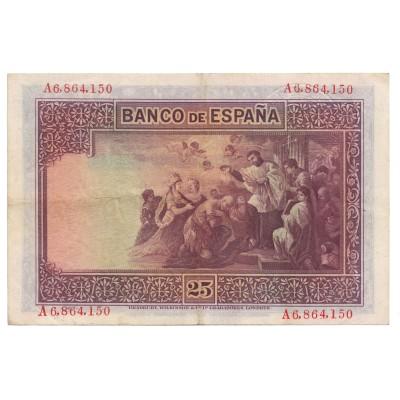 25 pesetas SPAIN 1926 - Resello República #7