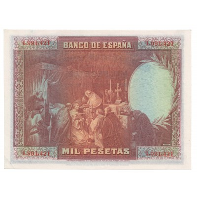 1000 pesetas SPAIN 1928 - Republic #3