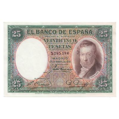 25 pesetas ESPAÑA 1931 - Sin serie #14