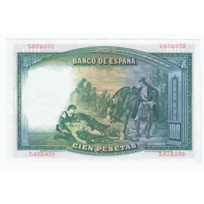 100 pesetas SPAIN 1931 - II Republic #9