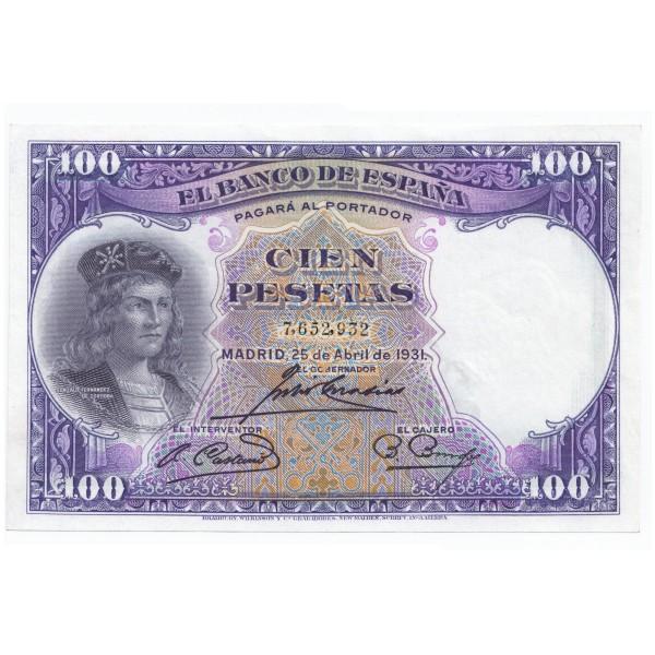 100 pesetas ESPAÑA 1931 - II Republica #9