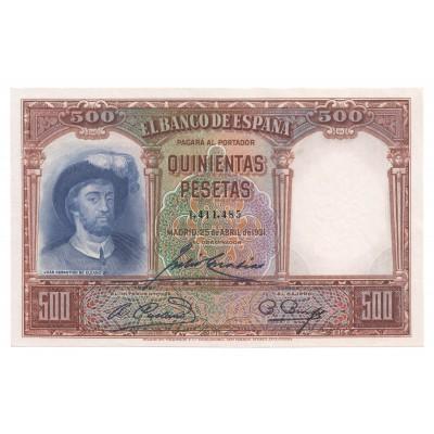 500 pesetas ESPAÑA 1931 - S/C #6