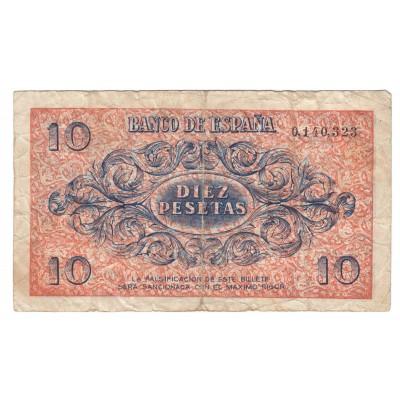 10 pesetas ESPAÑA 1936 - Burgos