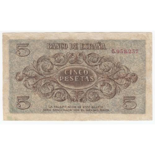 5 pesetas ESPAÑA 1936 - Burgos #2