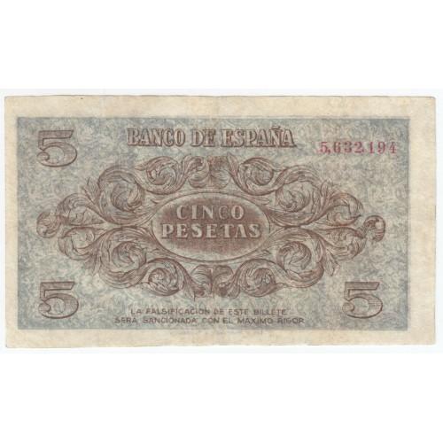 5 pesetas ESPAÑA 1936 - Burgos #3