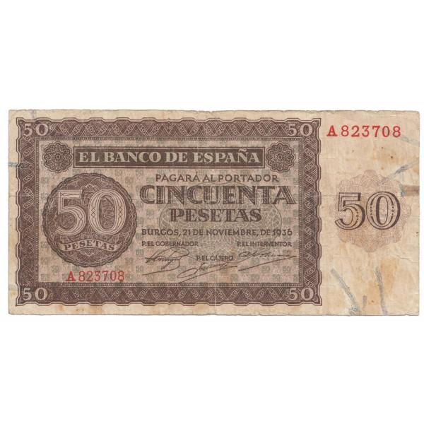 50 pesetas ESPAÑA 1936 - Burgos #16