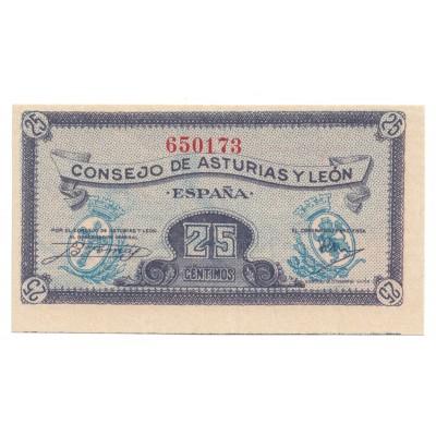 25 centimos ESPAÑA 1936 - Asturias y Leon #20