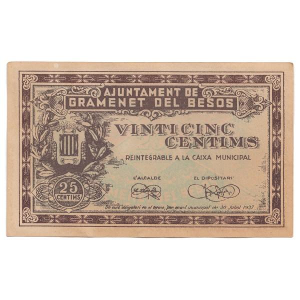 25 centimos ESPAÑA 1937 - Guerra Civil #18