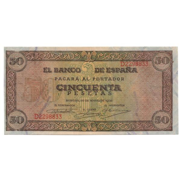 50 pesetas ESPAÑA 1938 - Burgos #12