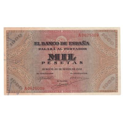 1000 pesetas ESPAÑA 1938 - Burgos #1