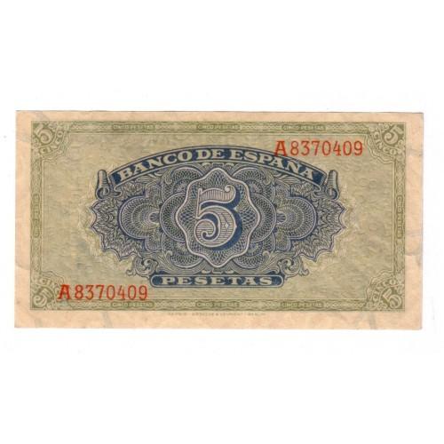 5 pesetas ESPAÑA 1940 - Alcazar de Toledo