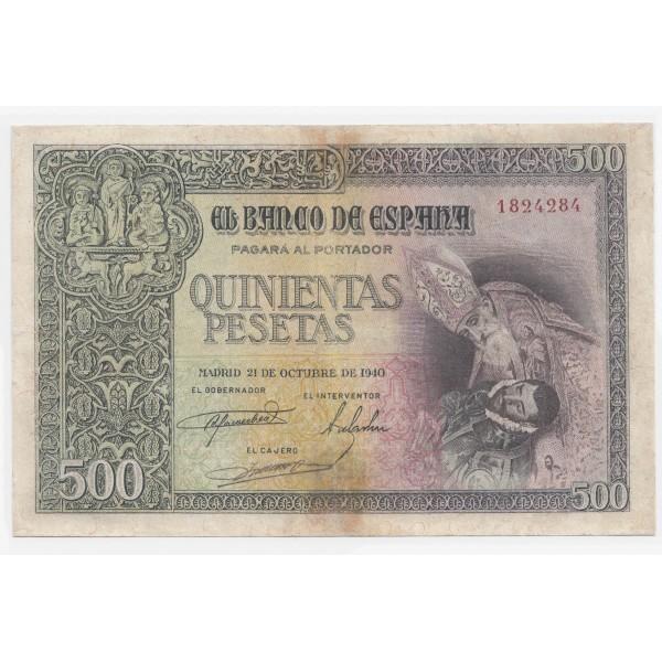 500 pesetas ESPAÑA 1940 - Sin serie #5