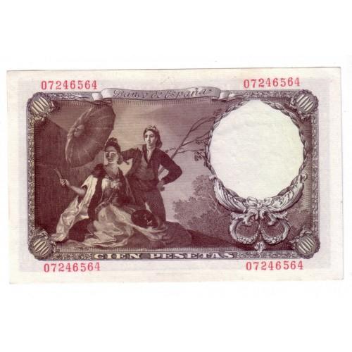 100 pesetas ESPAÑA 1946 - 19 de febrero SIN SERIE