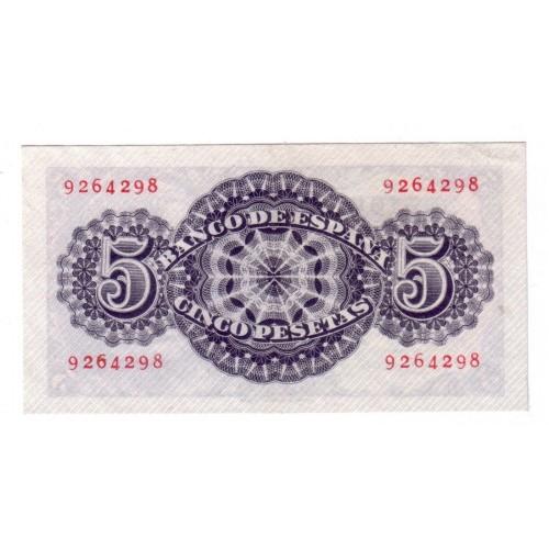 5 pesetas ESPAÑA 1947 - Seneca SIN SERIE