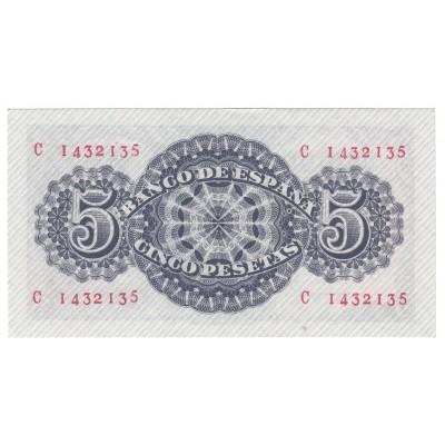 5 pesetas ESPAÑA 1947 - SENECA #15