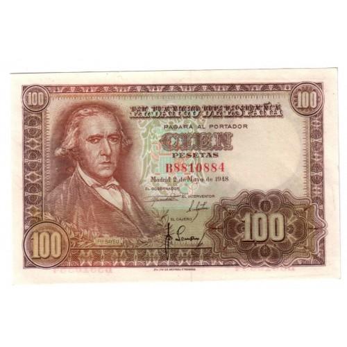 100 pesetas ESPAÑA 1948 - 2 mayo BAYEU
