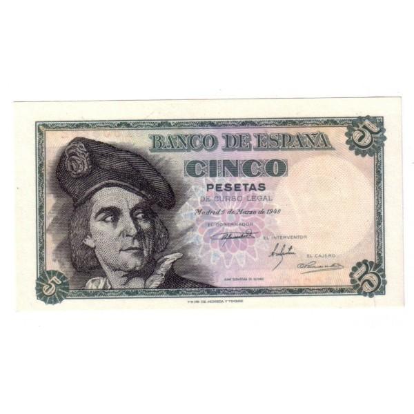 5 pesetas SPAIN 1948 - EL CANO