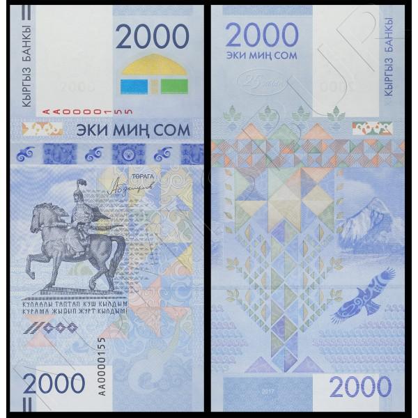 2000 som KYRGYZSTAN 2017 - Conmemorative