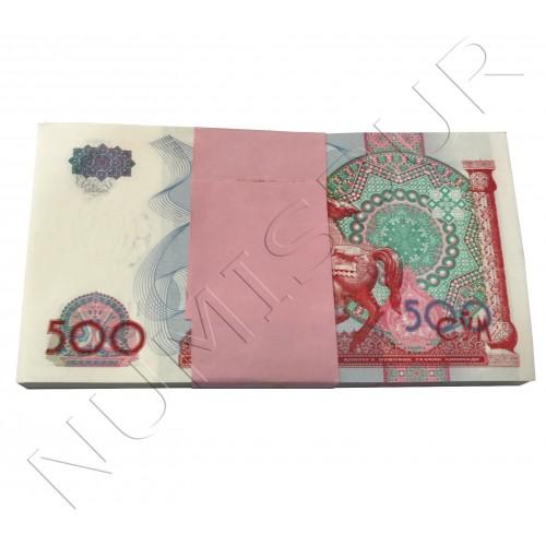 500 sum UZBEKISTAN 1999 - UNC 100 unidades