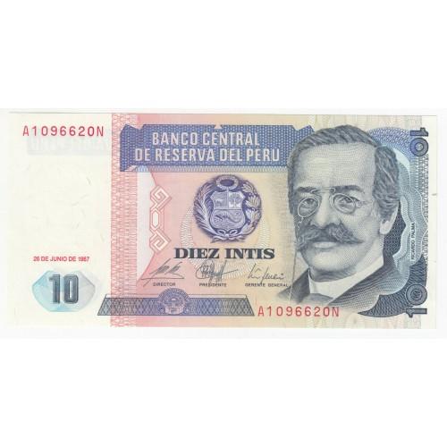 10 intis PERU 1967 - Ricardo Palma