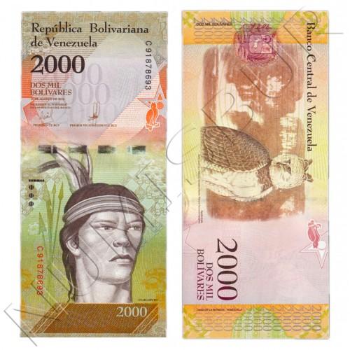 2000 bolivares VENEZUELA 2016