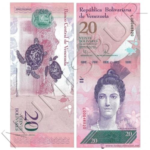 20 bolivares VENEZUELA 2014