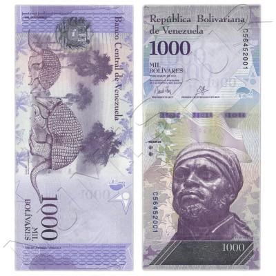 1000 bolivares VENEZUELA 2017