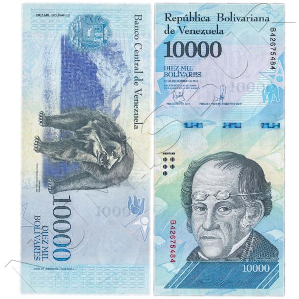 10000 bolivares VENEZUELA 2017