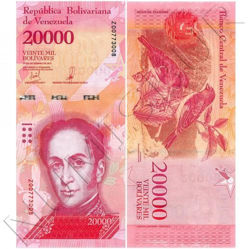 20000 bolivares VENEZUELA 2017