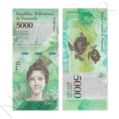 5000 bolivares VENEZUELA 2017