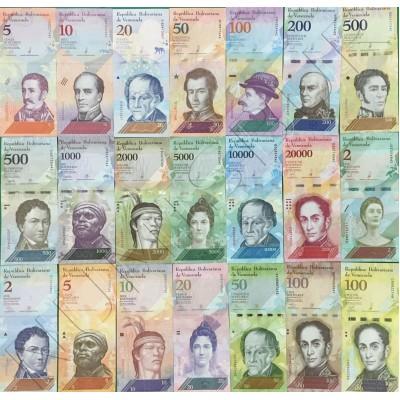 Serie VENEZUELA 2007 - 2019 | 21 banknotes