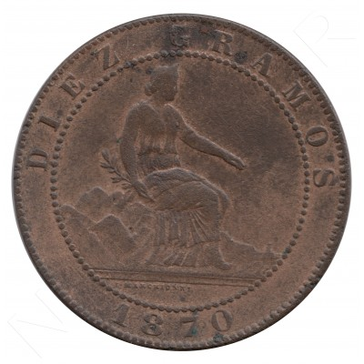 10 cents SPAIN 1870 - OM BARCELONA #61