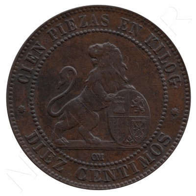 10 cents SPAIN 1870 - OM BARCELONA