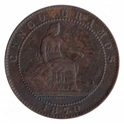 5 cents SPAIN 1870 - OM BARCELONA #94