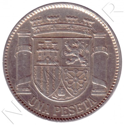 1 peseta SPAIN 1933 - II Republic *3* *4*