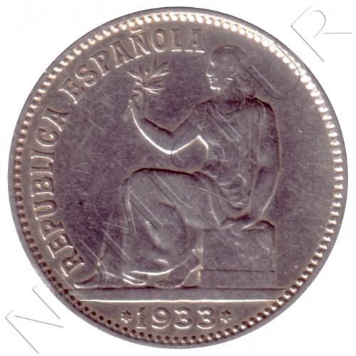 1 peseta ESPAÑA 1933 - 2ª Republica *3* *4*