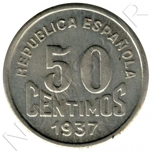 50 cents SPAIN 1937 - Consejo Asturias y León