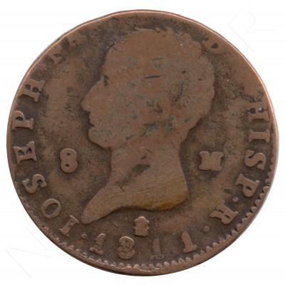 8 maravedies ESPAÑA 1811 - Jose I Bonaparte #69