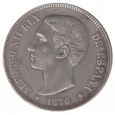 5 pesetas ESPAÑA 1876 - Alfonso XII *76*