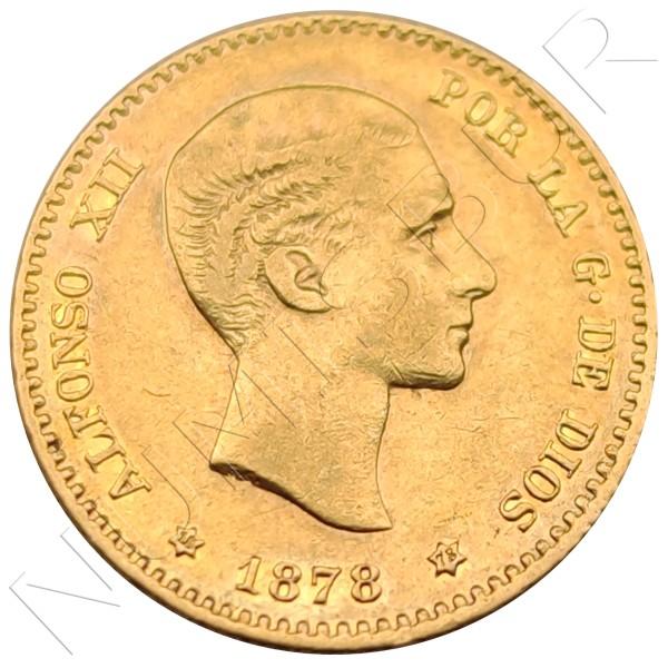 10 pesetas SPAIN 1878 - *18* *78*